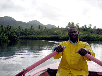 Martin on Providence, Indian River, Dominica