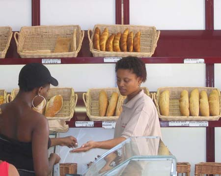 The bakery in Ste. Anne, Martinique