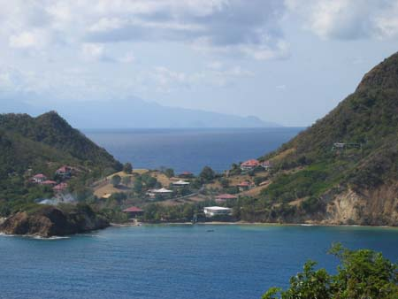 Ilse des Saintes with Dominica in the background