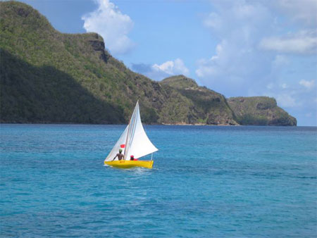 traditional sloop, Admiralty Bay, Bequia, SVG